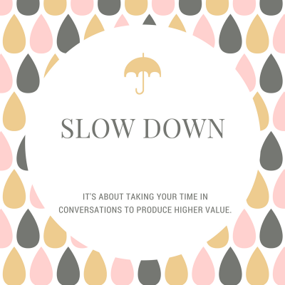 a graphic image to represent slowing down